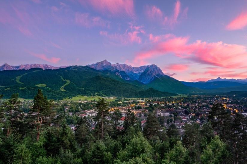 Hiking up for the View in Garmisch-Partenkirchen, Bavaria.