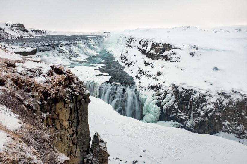 Falling Down The Golden Waterfall –Gullfoss.