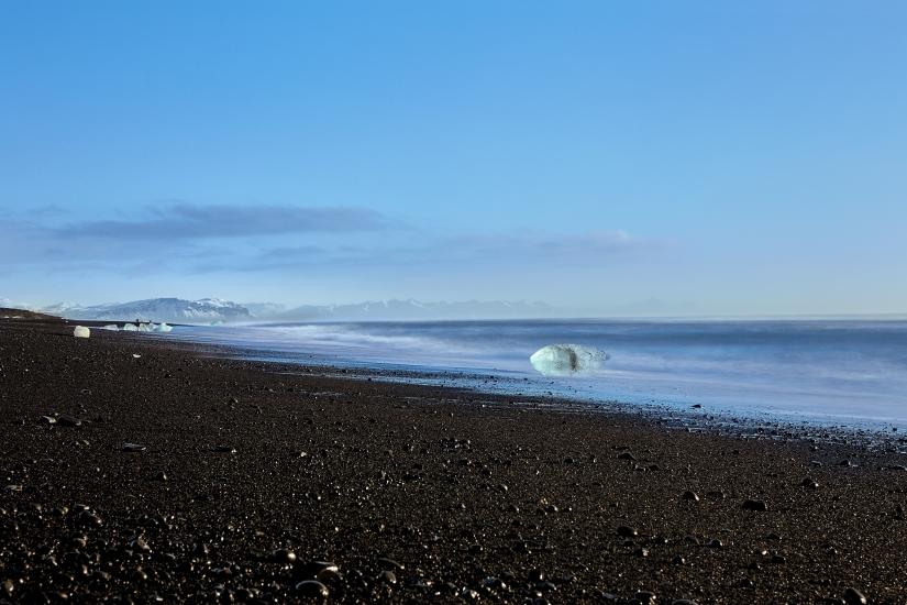 Jokulsarlon Black Sand Beach or How I got Kissed by AtlanticOcean.