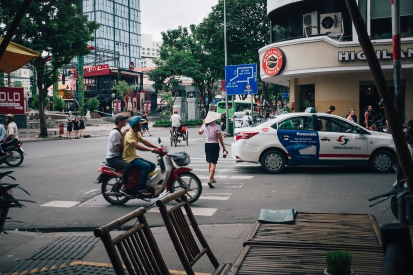 Hustle and Bustle of Saigon, Vietnam.